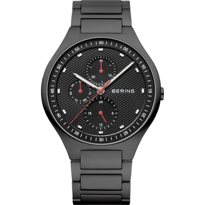 Bering Men's Carbon Fibre Black Titanium Multifunction Watch 11741-772
