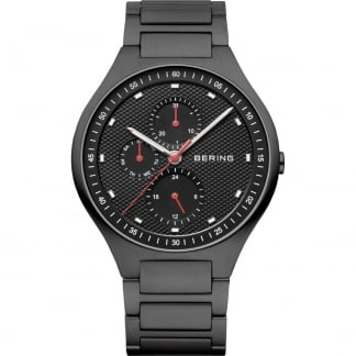 Men's Carbon Fibre Black Titanium Multifunction Watch