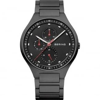 Men's Carbon Fibre Black Titanium Multifunction Watch 11741-772