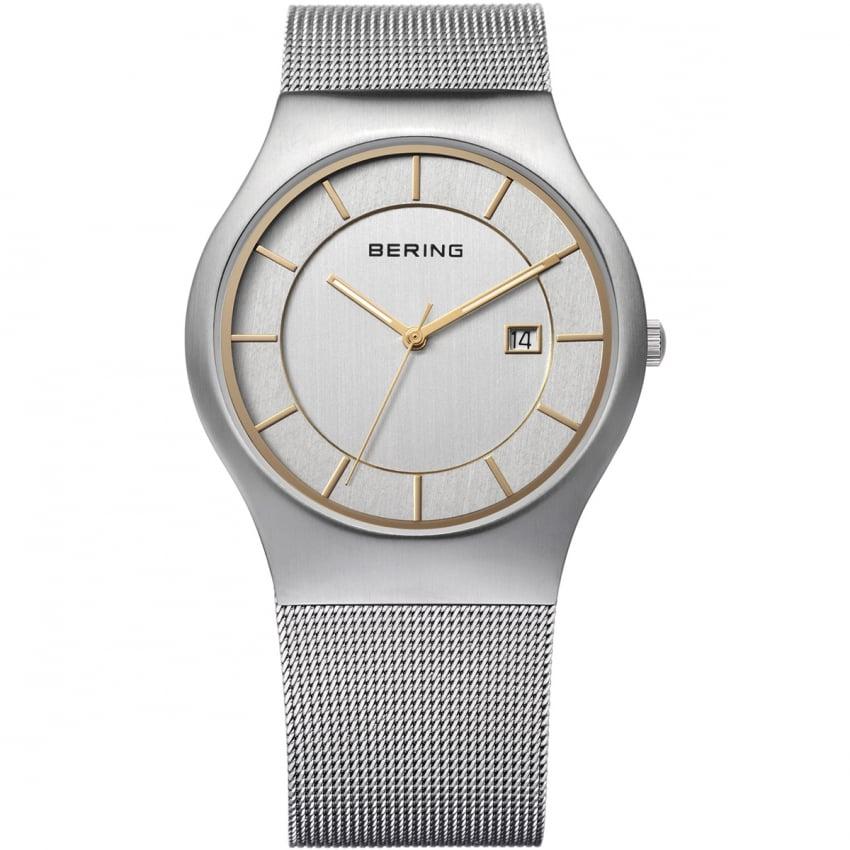 Bering Men's Silver Mesh Classic Quartz Watch 11938-001