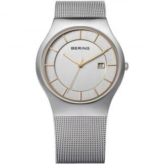Men's Silver Mesh Classic Quartz Watch 11938-001