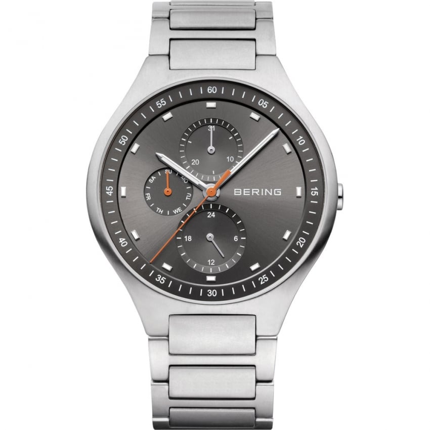 Bering Men's Titanium Grey Multifunction Watch 11741-702