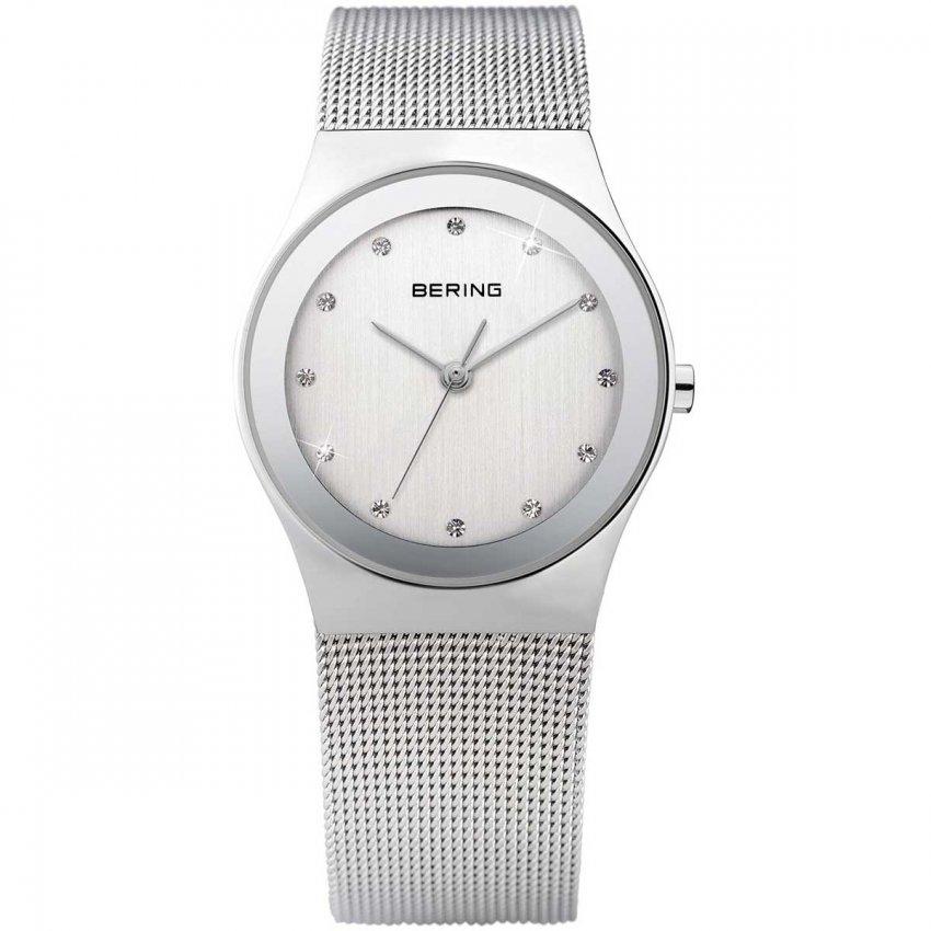 Bering Swarovski Set Ladies Mesh Strap Watch 12927-000