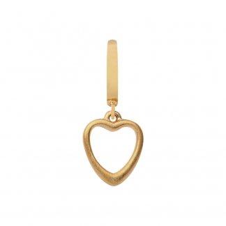 Big Heart Gold Charm E35252