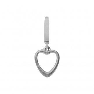 Big Heart Silver Charm E31103