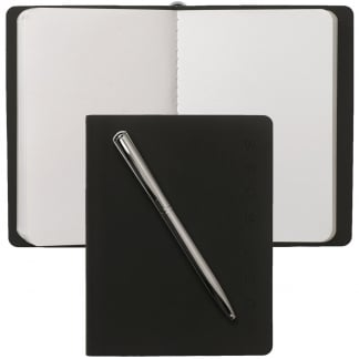 Black A6 Folder & Pen Set