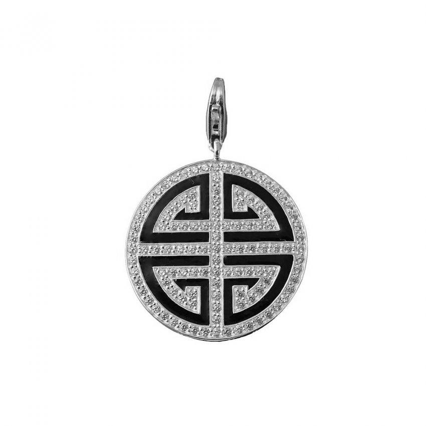 Thomas Sabo Black Enamel Great Blessing CZ Pendant T0299-041-11