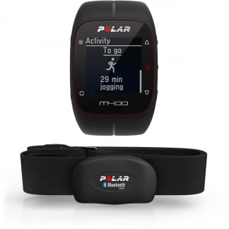 Black M400 GPS Running Watch With Heart Rate Monitor