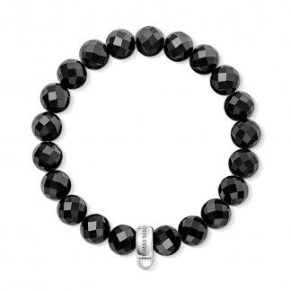 Black Obsidian Charm Carrier Bracelet X0035-023-11
