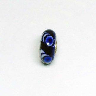 Blue Bubbles With White Ripple Unique Bead UNIQUE167