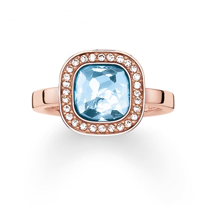 Thomas Sabo Blue Secret of Cosmo Rose Gold Ring TR2029-635-1