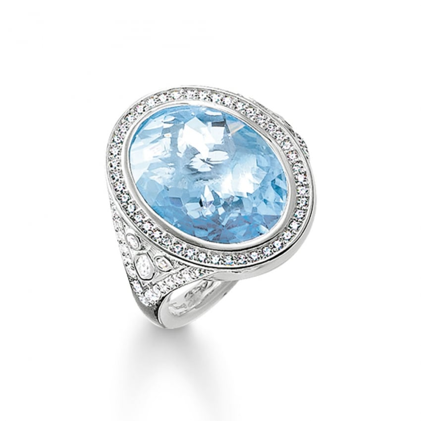 Thomas Sabo Blue Spinel Eternity of Love Cocktail Ring TR2022-059-1