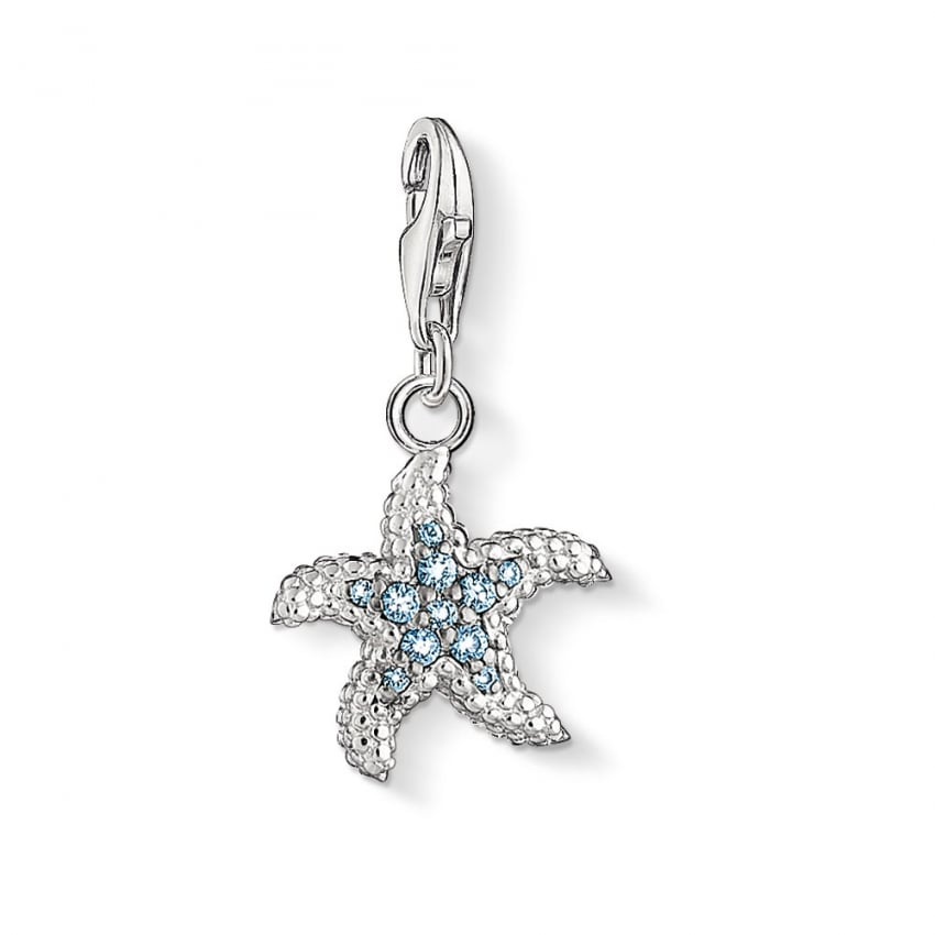 Thomas Sabo Blue Stone Set Starfish Charm 1344-638-31