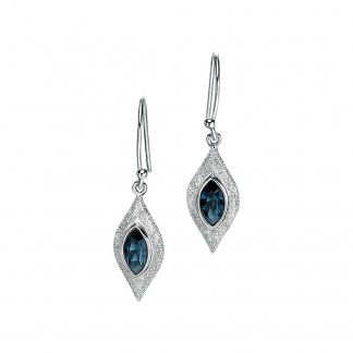 Blue Swarovski Crystal Diamond Cut Earrings E4684L