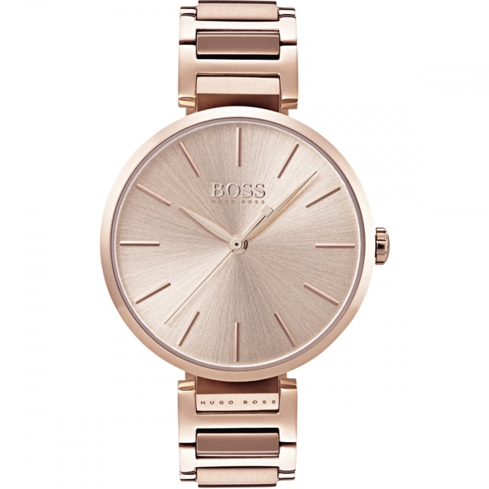 59265407fab3 BOSS Ladies Blush Rose Gold Allusion Watch - Watches from Francis ...