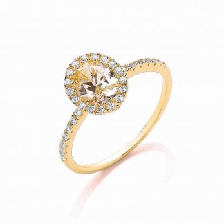 Gold Oval Roulette Ring BR085