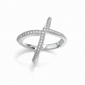 Silver Modern Wishbone Ring
