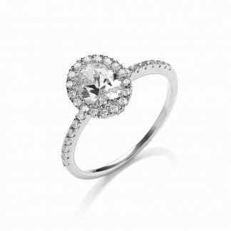 Silver Oval Roulette Ring BR086