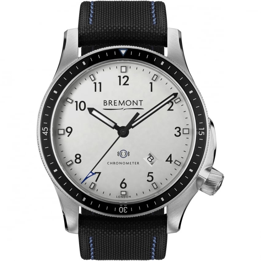 Bremont Men's Boeing Model 1 Nylon Strap Chronometer Watch BB1-SS/WH