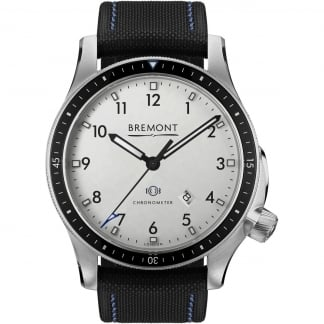 Men's Boeing Model 1 Nylon Strap Chronometer Watch BB1-SS/WH