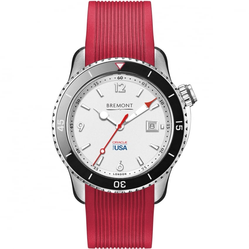 Bremont Men's Oracle One Team USA Red Rubber Automatic Watch OTUSA1