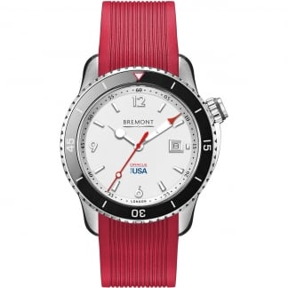 Men's Oracle One Team USA Red Rubber Automatic Watch OTUSA1