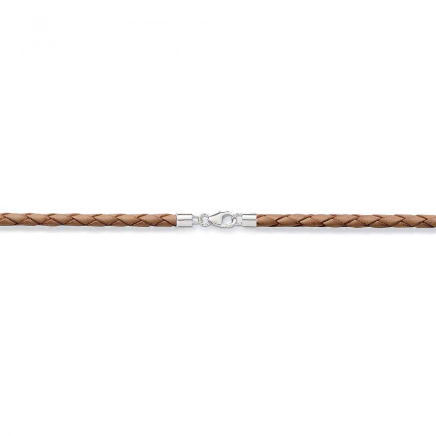 Thomas Sabo Brown Plaited Leather Charm Cord X0134-134-16