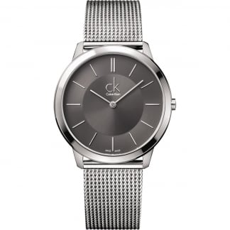 Ladies Grey Dial Mesh Bracelet Watch
