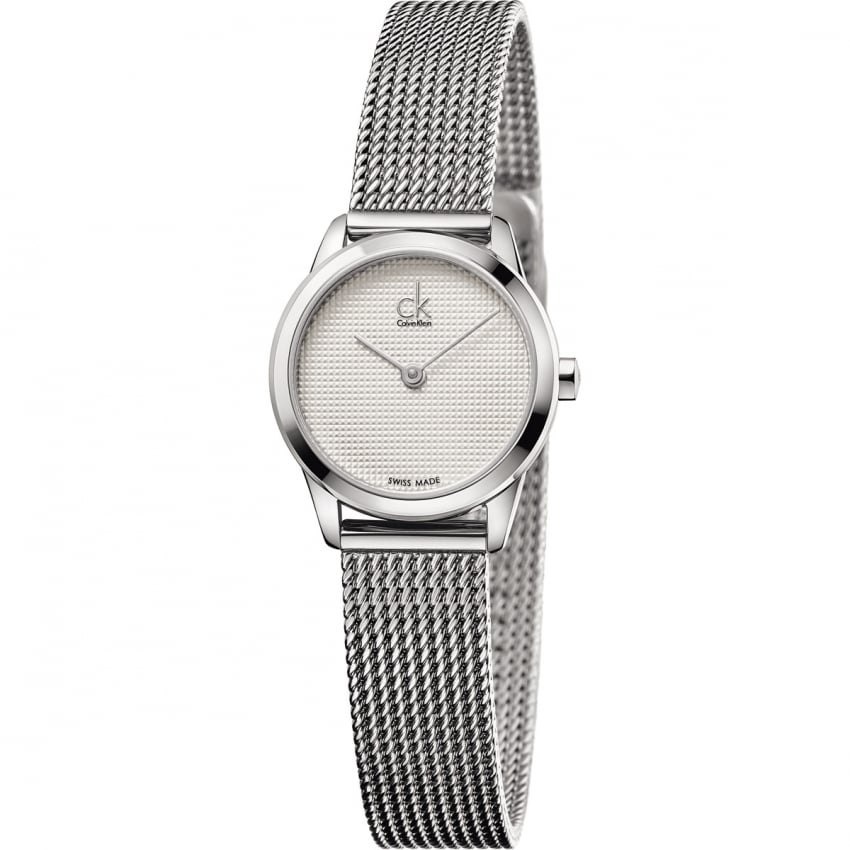 Calvin Klein Ladies Thin Steel Mesh Bracelet Minimal Watch K3M2312Y