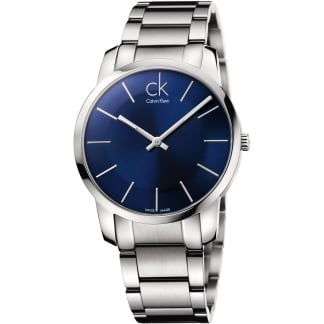 Men's Blue Dial City Watch