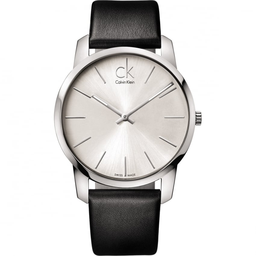 Calvin Klein Men's Silver Dial City Watch K2G211C6