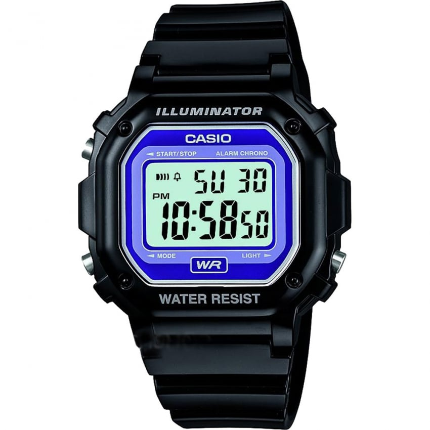 Casio Classic Alarm Chronograph Purple Dial Watch F-108WHC-1BEF