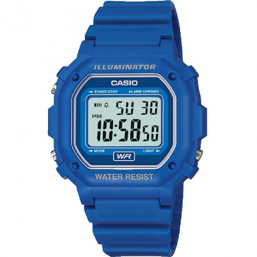 Casio Classic Blue Illuminator Digital Alarm Watch F-108WH-2AEF