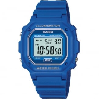 Classic Blue Illuminator Digital Alarm Watch F-108WH-2AEF