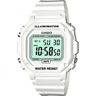 Classic White Illuminator Digital Alarm Watch F-108WHC-7BEF