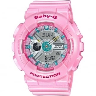 Ladies Baby Pink Baby-G Alarm Chronograph Watch