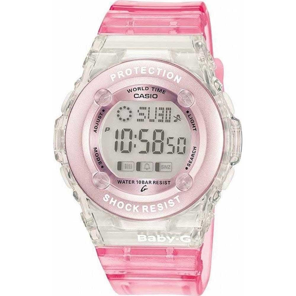 d1f3732bd34ae Casio G-Shock Ladies Pink Baby-G Alarm Chronograph Watch Product Code   BG-1302-4ER