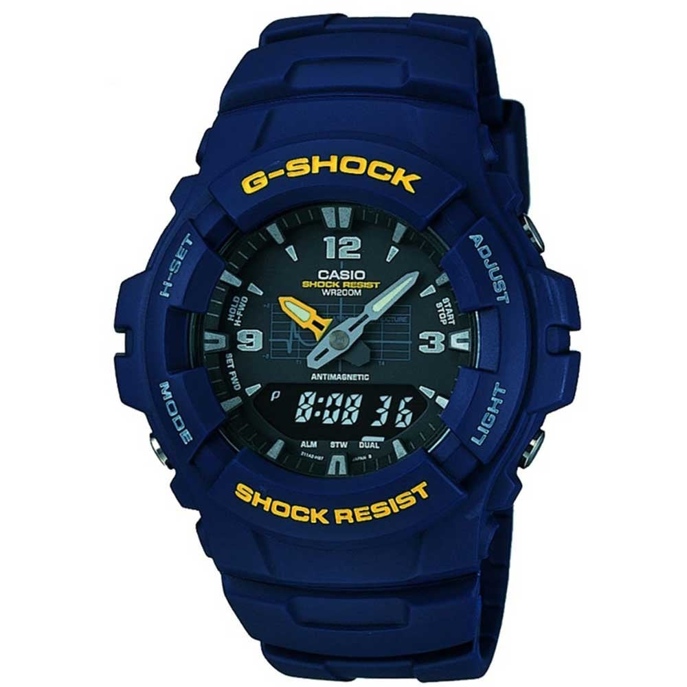 Casio G Shock Men S Blue Multifunction Watch