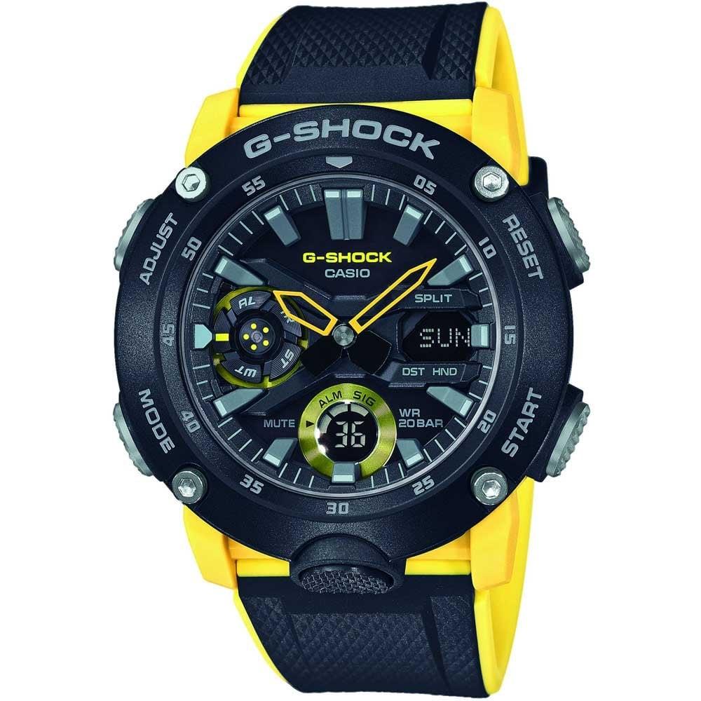 Casio G-Shock Men's Carbon Core Black/Yellow Chrono Watch