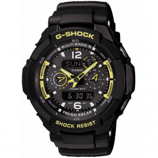 Men's Black G-Shock Waveceptor Sports Watch GW-3500B-1AER