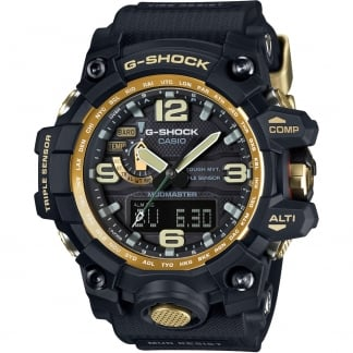 Men's G-Shock Premium Black X Gold MudMaster Watch GWG-1000GB-1AER