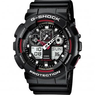 Men's Oversized Alarm Chronograph G-Shock Watch GA-100-1A4ER