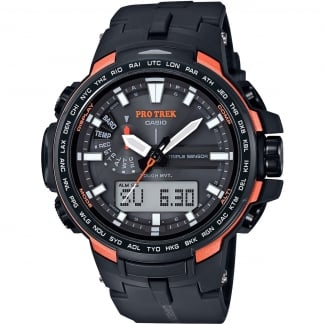 Men's Pro Trek World Time Triple Sensor Solar Watch