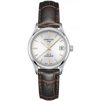 Ladies DS-8 Brown Leather COSC Quartz Watch