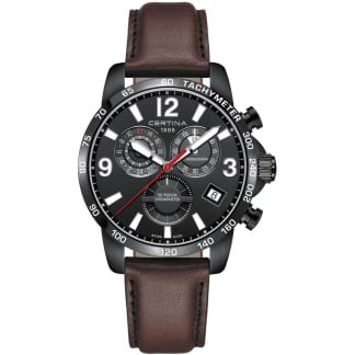 Men's Black PVD DS Podium Chronograph GMT Quartz Watch
