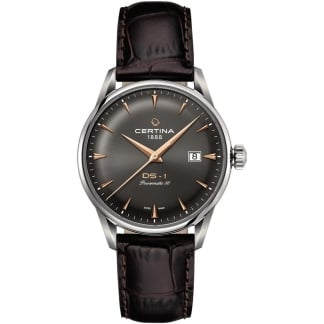 Men's DS-1 Brown Leather Powermatic 80 Watch