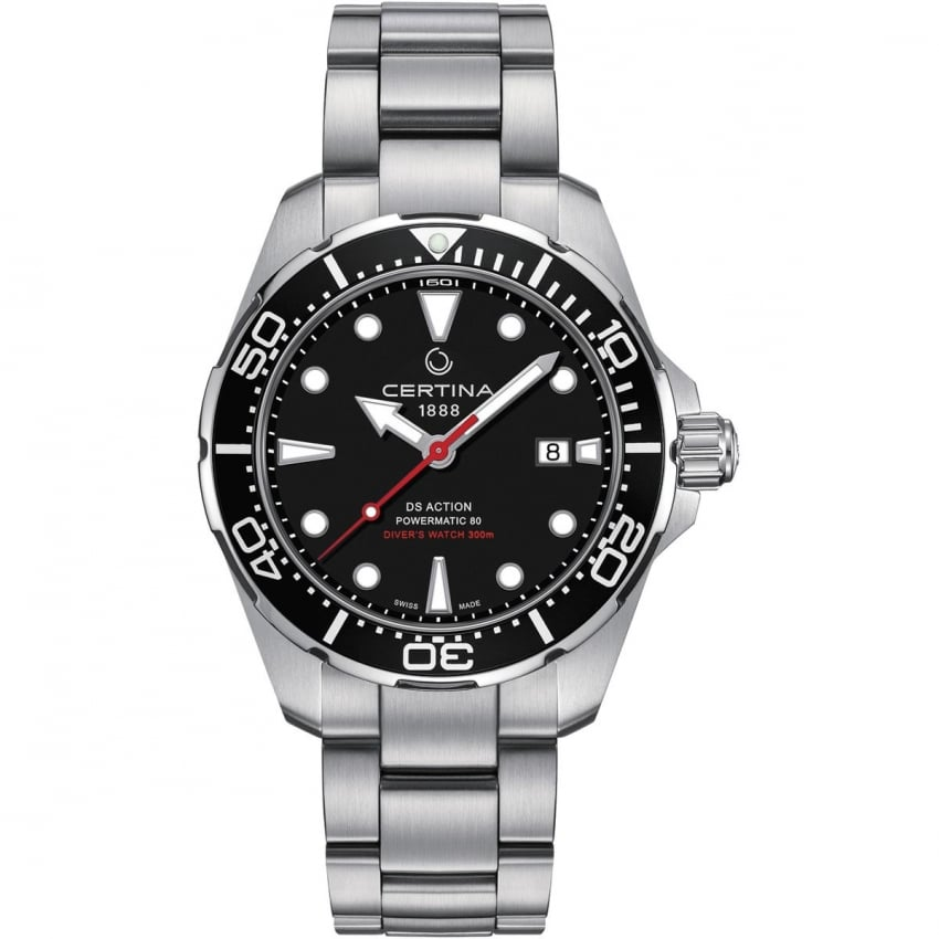 Certina Men's DS Action Diver Automatic Black Dial Watch C032.407.11.051.00