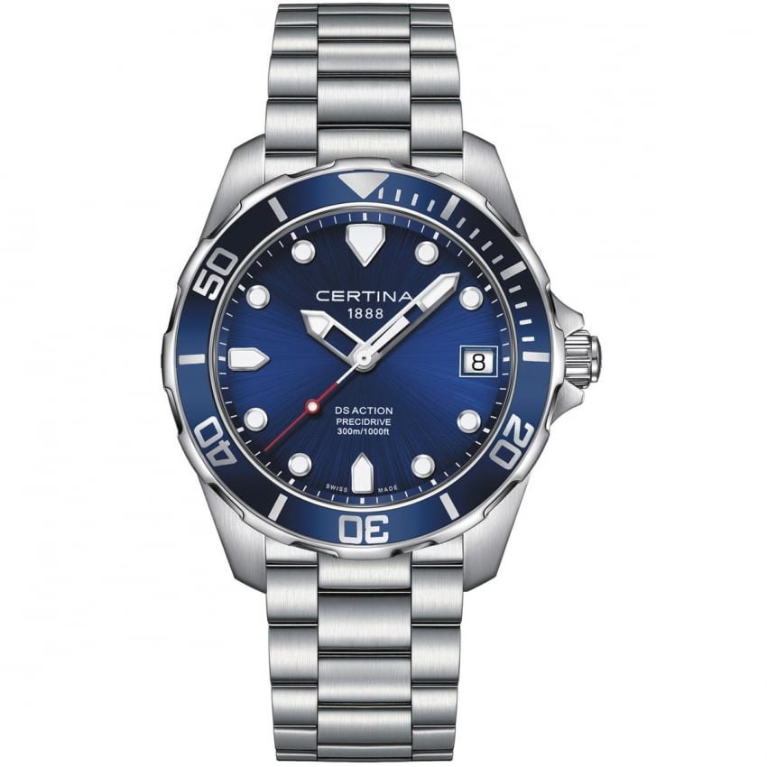 Certina Men's DS Action Diver 41mm Blue Dial Quartz Watch C032.410.11.041.00