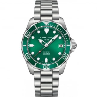 Men's DS Action Diver 41mm Green Dial Quartz Watch