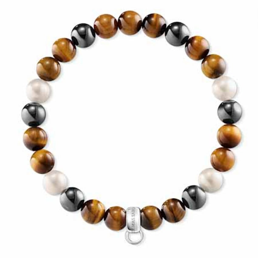 Thomas Sabo Charm Club Mini Tigers Eye Beaded Bracelet X0218-948-2